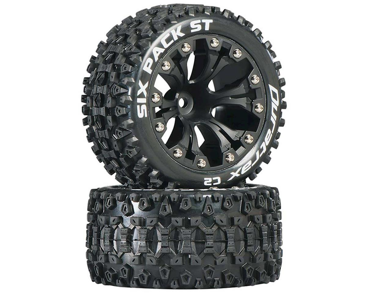 "DuraTrax Sixpack ST 2.8"" Mounted Nitro Rear Truck Tires (Black) (2) (1/2 Offset)"