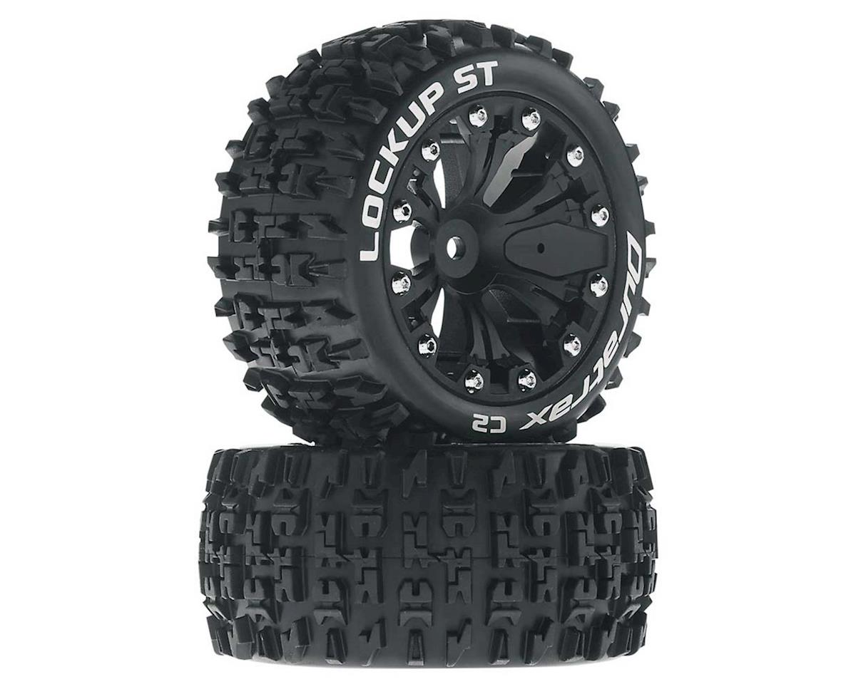 "Lockup ST 2.8"" 2WD Rear Mounted Truck Tires (Black) (2) by DuraTrax"