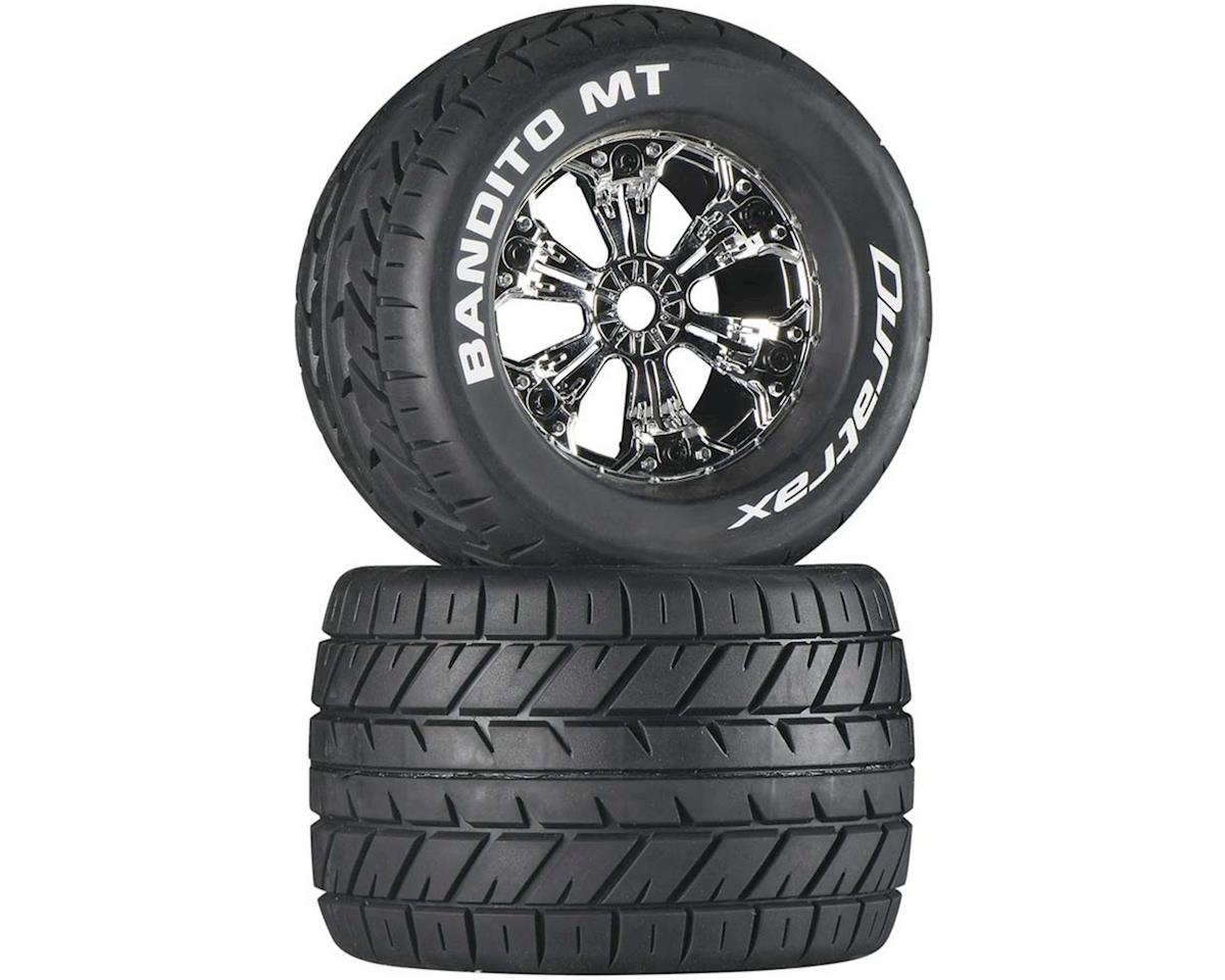 "DuraTrax Bandito MT 3.8"" Pre-Mounted Tires (Chrome) (2)"