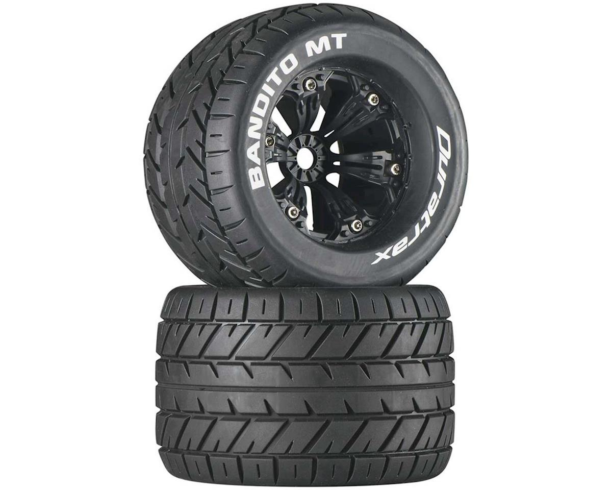"DuraTrax Bandito MT 3.8"" Mounted Truck Tires (Black) (2) (1/2 Offset)"
