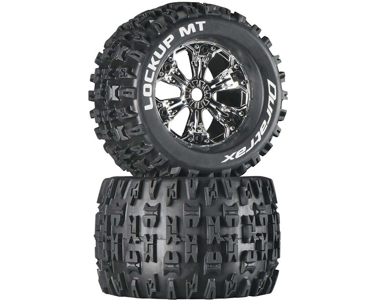 "DuraTrax Lockup MT 3.8"" Mounted Truck Tires (Chrome) (2)"