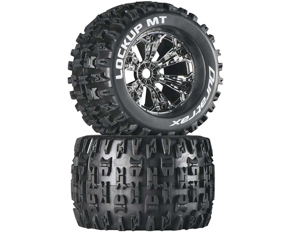 "DuraTrax Lockup MT 3.8"" Mounted Truck Tires (Chrome) (2) (1/2 Offset)"