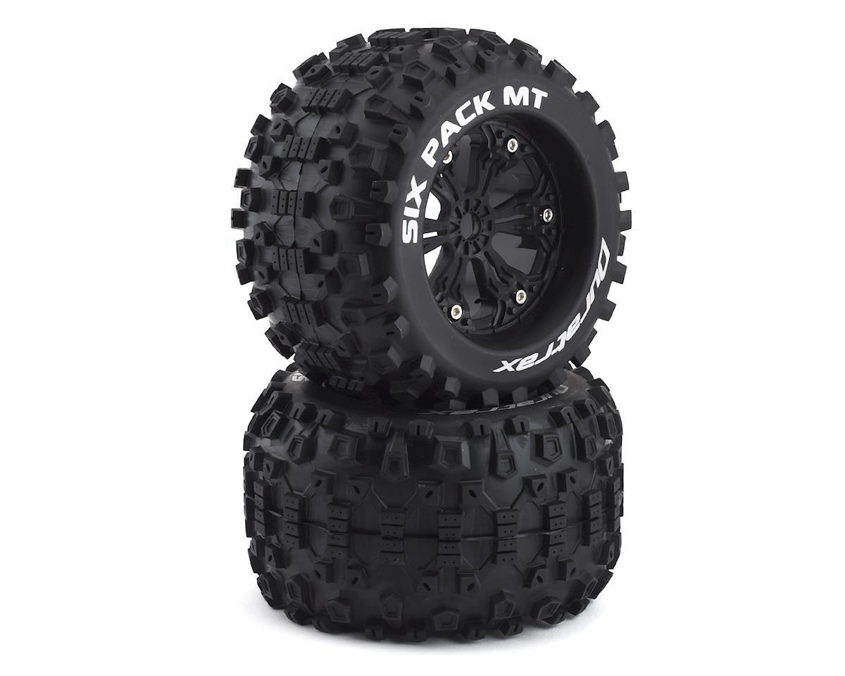 "DuraTrax Six Pack MT 3.8"" Pre-Mounted Monster Truck Tire (Black) (2) (HPI Savage X)"