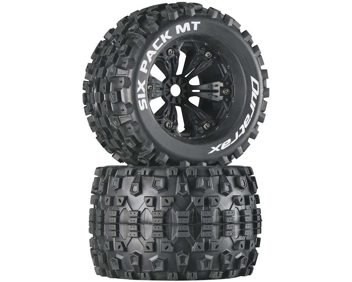 "DuraTrax Six Pack MT 3.8"" Pre-Mounted Truck Tires (Black) (2) (1/2 Offset) (Traxxas Summit)"