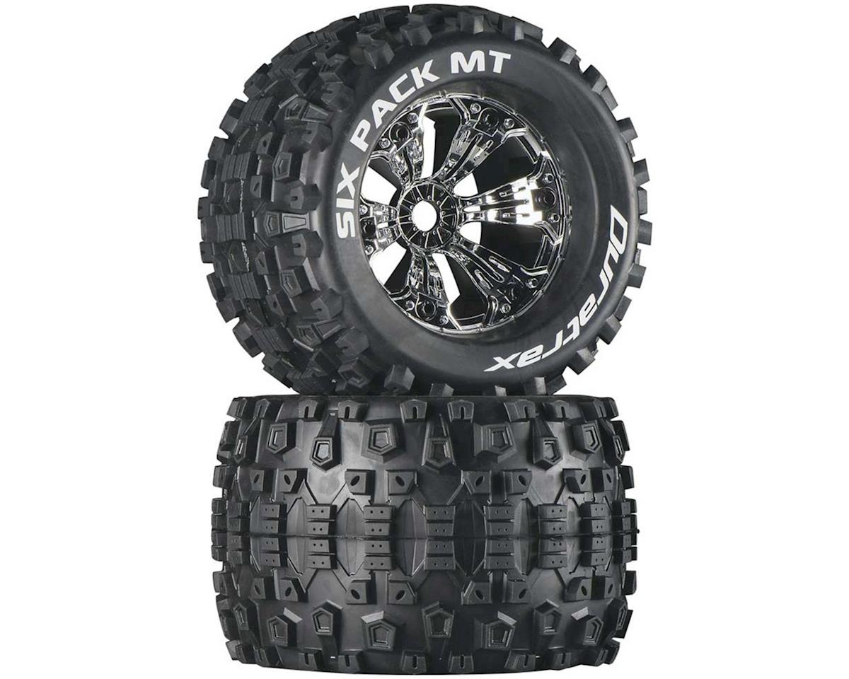 "DuraTrax Six Pack MT 3.8"" Pre-Mounted Truck Tires (Chrome) (2) (1/2 Offset)"