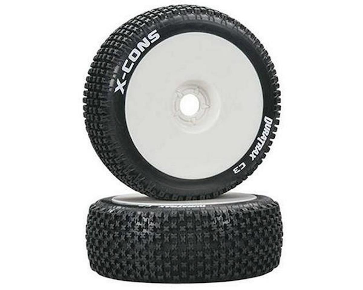 DuraTrax Pre-Mounted X-Cons 1/8 Buggy Tires (White) (2) (C3)
