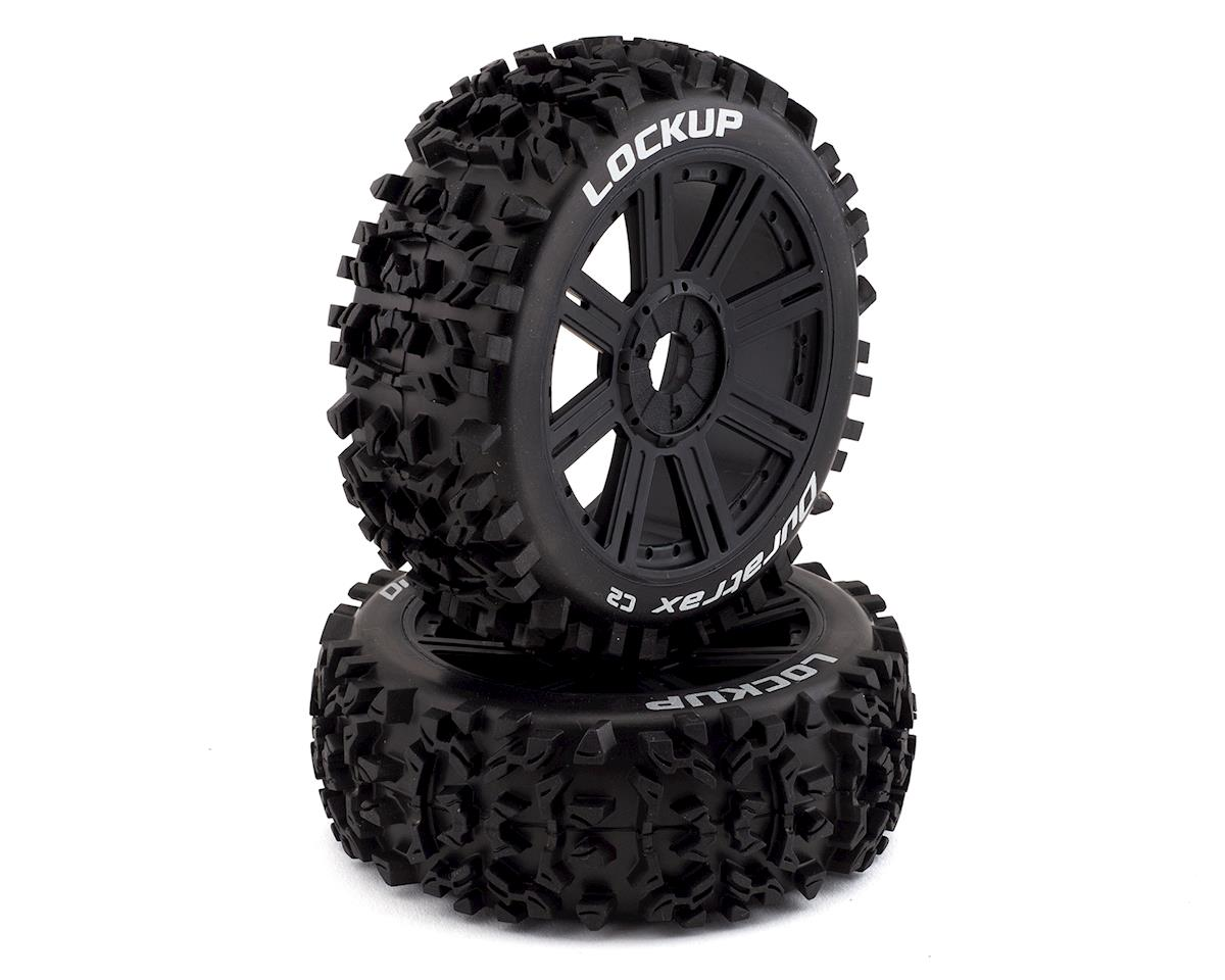 Lockup 1/8 Mounted Buggy Tires (Black) (2) (C2) by DuraTrax