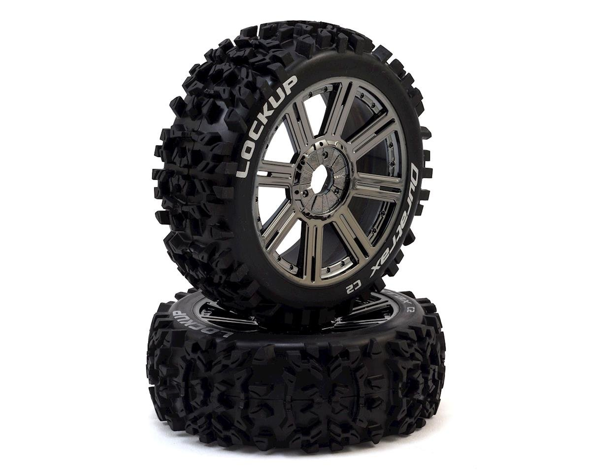 Lockup 1/8 Mounted Buggy Tires (Chrome) (2) by DuraTrax