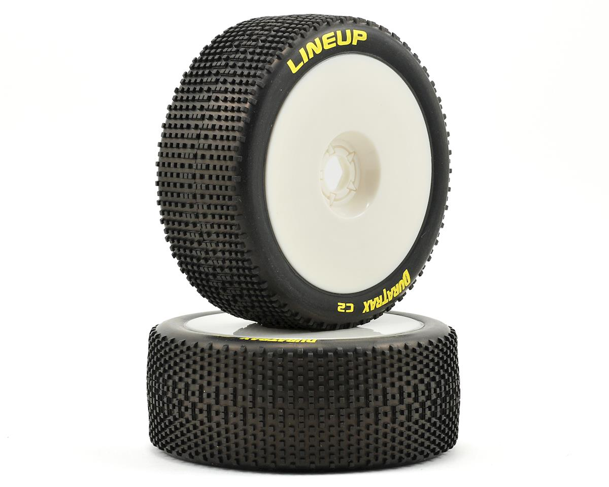 DuraTrax Pre-Mounted Lineup 1/8 Buggy Tires (White) (2)