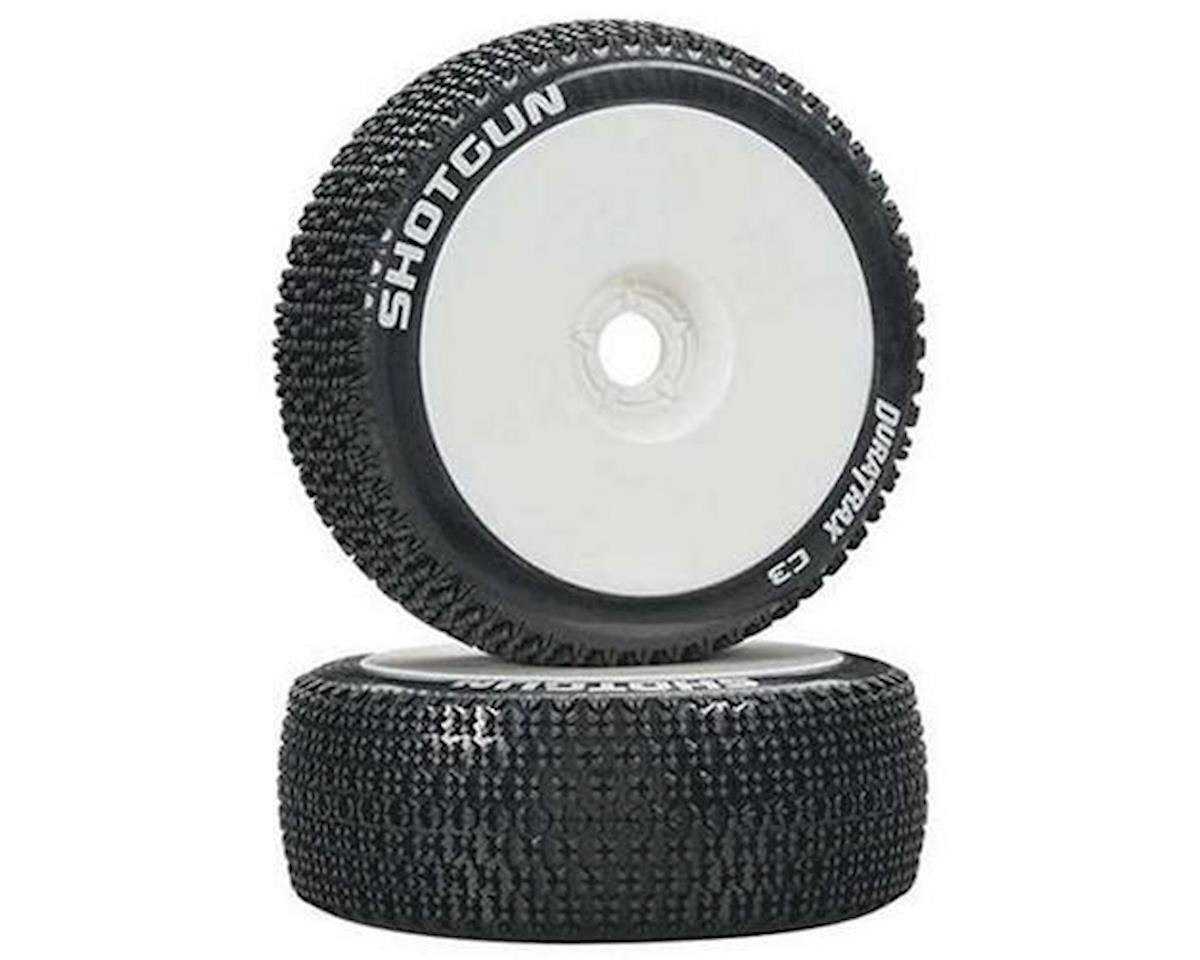 Shotgun 1/8 Buggy Tire C3 Mounted White (2) by DuraTrax