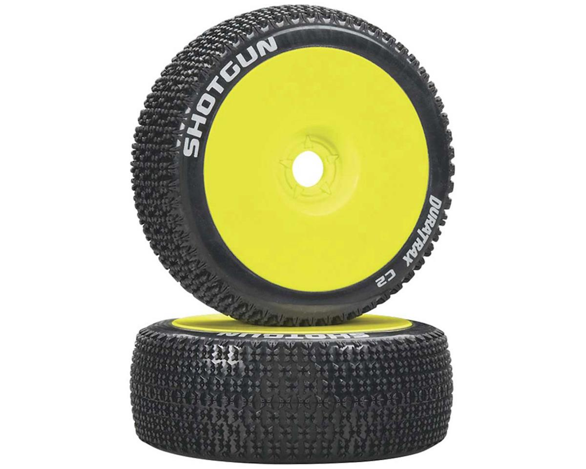 Shotgun 1/8 Buggy Tire C2 Mounted Yellow (2) by DuraTrax