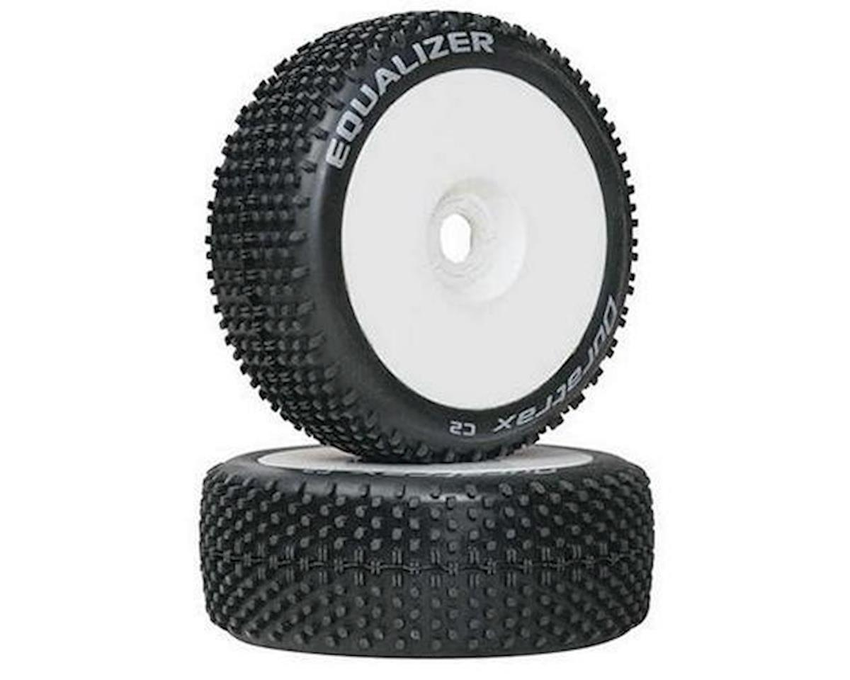 Equalizer Buggy Tire C2 Mounted White (2) by DuraTrax