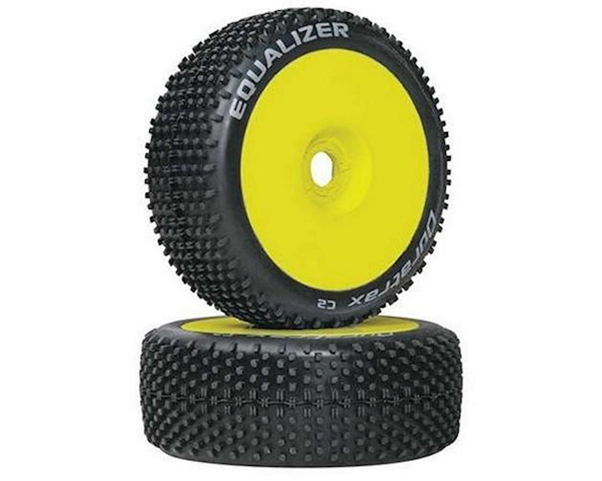 Equalizer Buggy Tire C2 Mounted Yellow (2) by DuraTrax