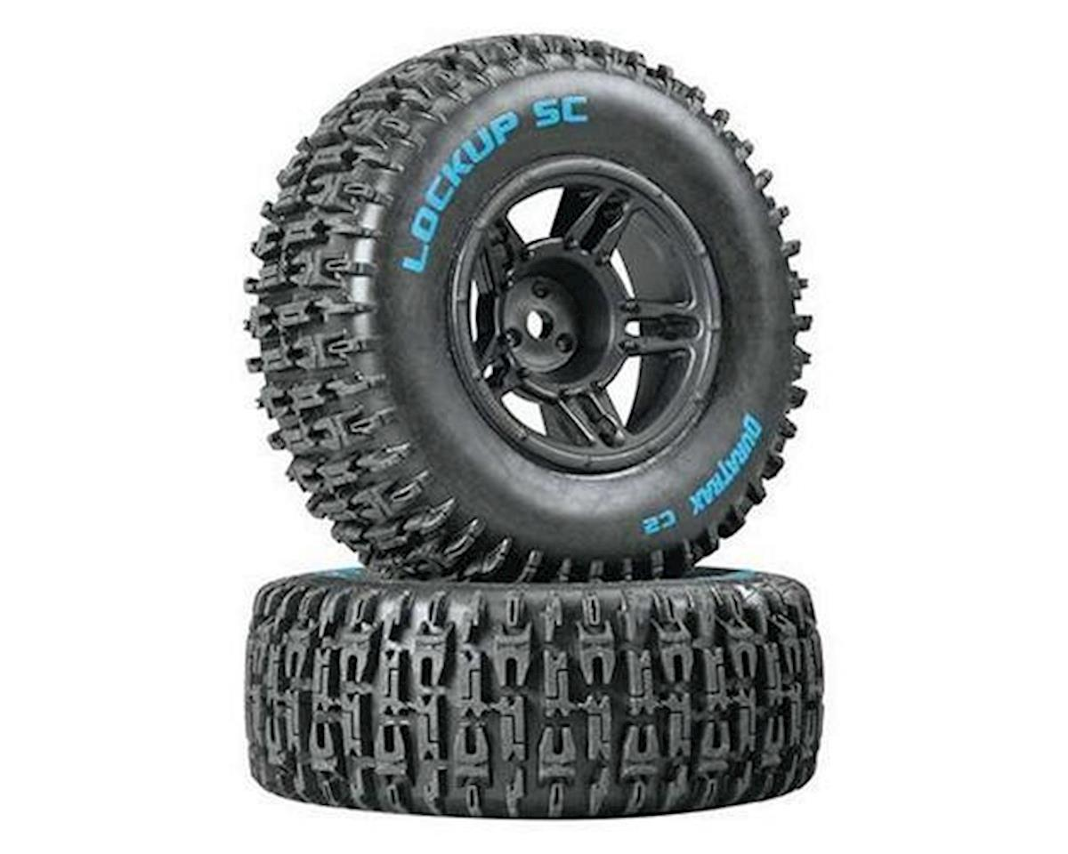 Lockup SC 1/10 Mounted Slash Front Tire (Black) (2) (C2) by DuraTrax