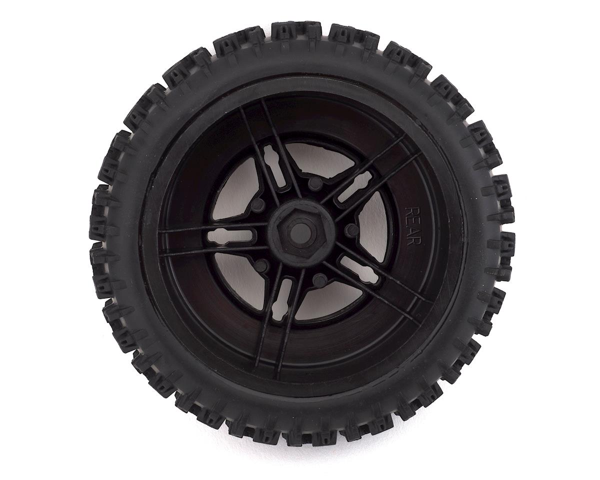 DuraTrax Lockup SC 1/10 Mounted Slash Rear Tire (Black) (2) (C2)