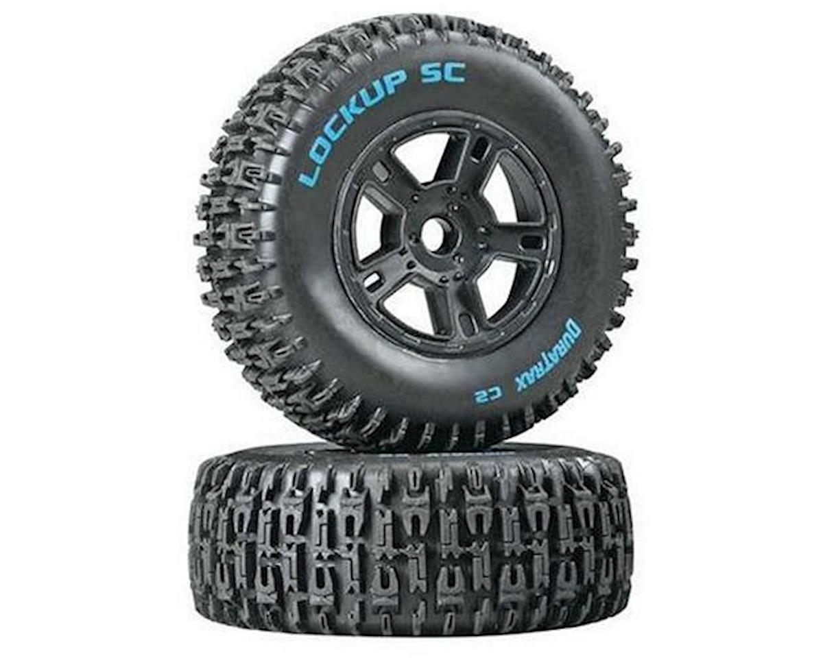 DuraTrax Lockup SC Tire C2 Mounted Black SC10 Fr (2)