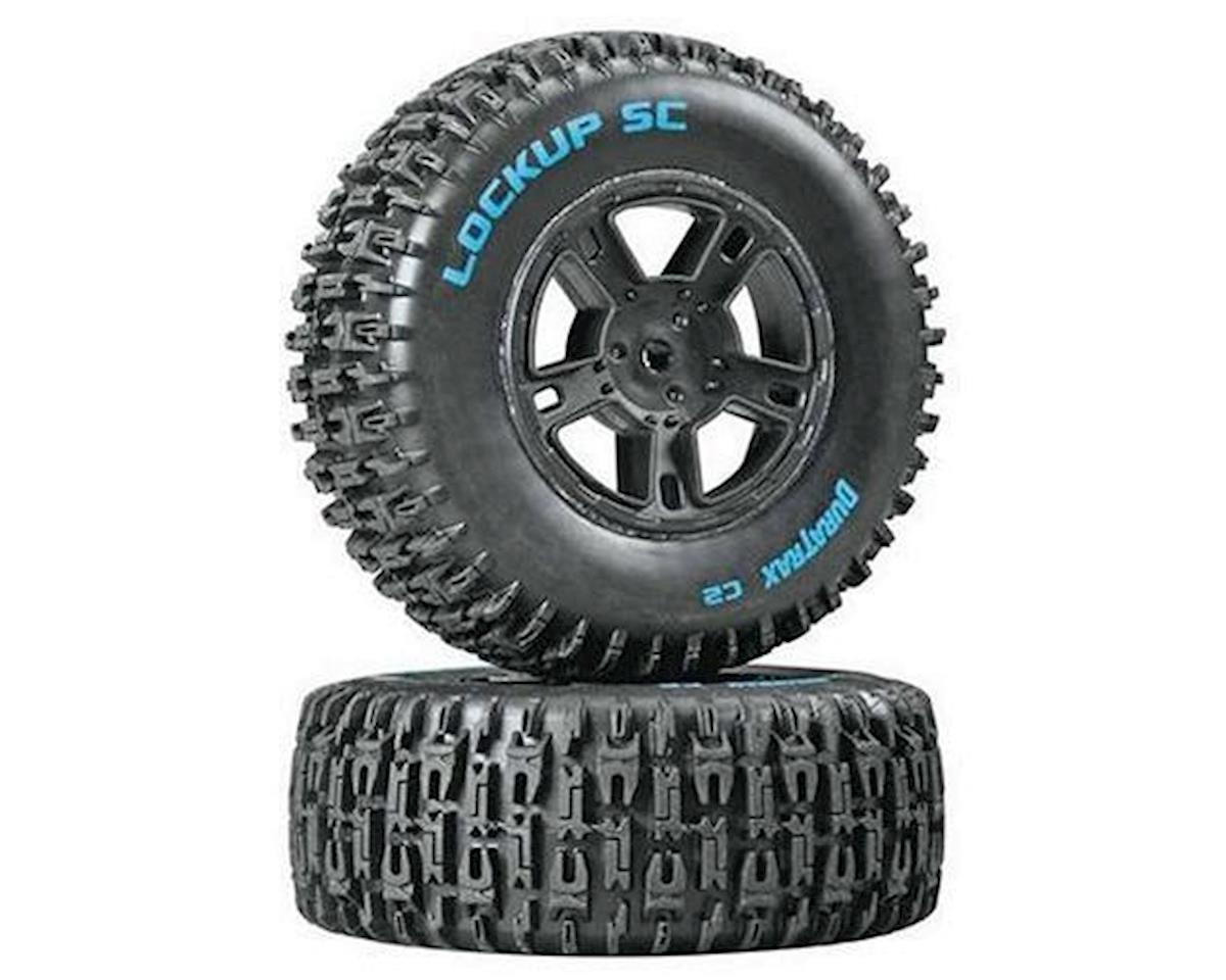 DuraTrax Lockup SC Tire C2 Mounted Black SC10 Rear (2)