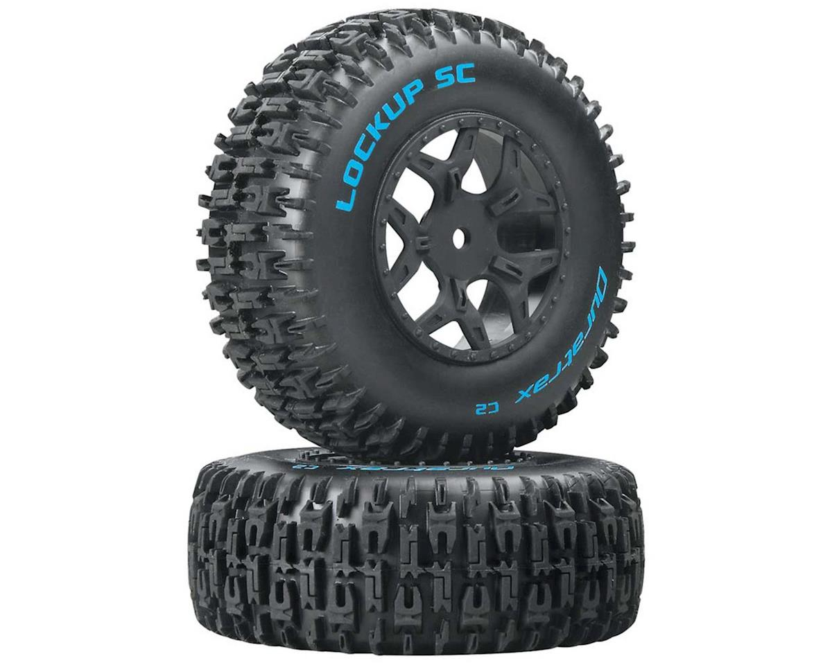 DuraTrax Lockup 1/10 Pre-Mounted SC Tires (2) (C2) (Losi Ten SCTE 4x4)