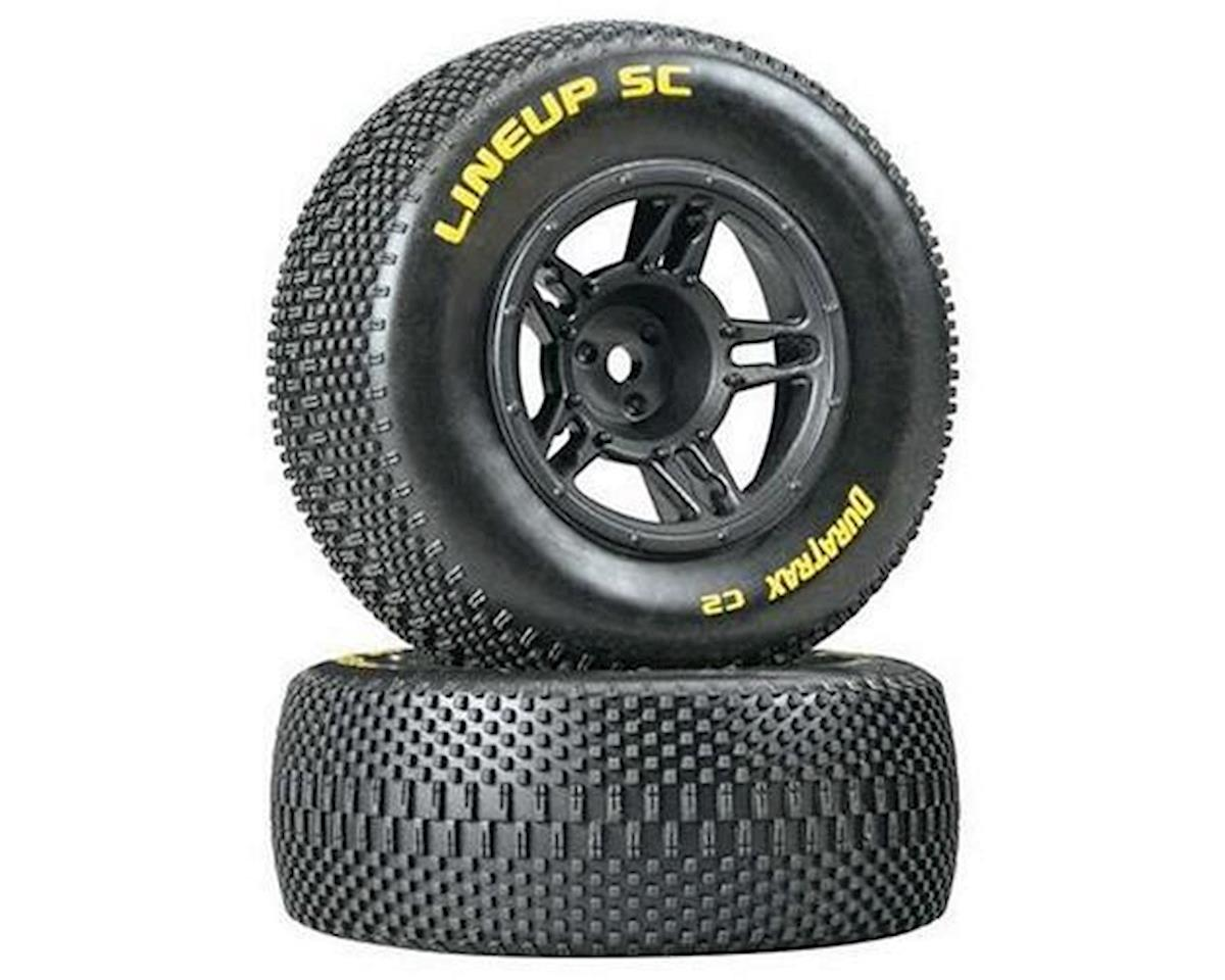 DuraTrax Lineup SC Tire C2 Mounted Black Slash Fr (2)