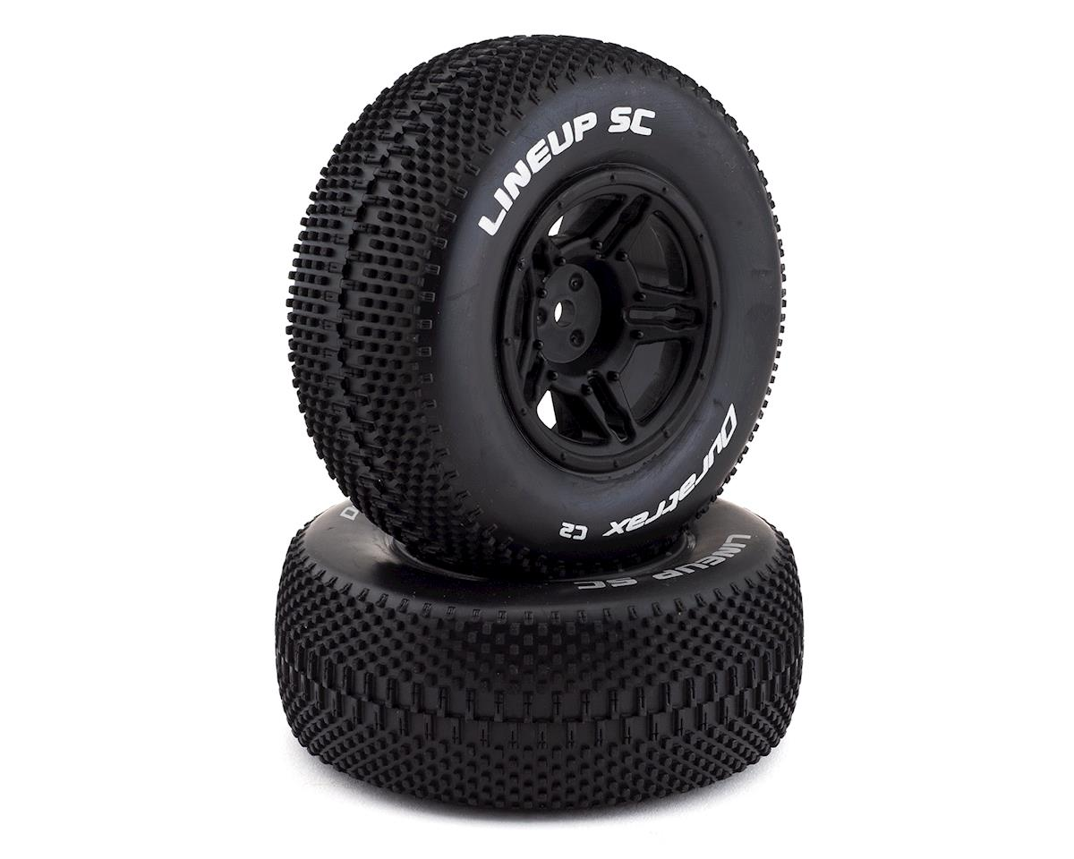 DuraTrax 12mm Hex Lineup Pre-Mounted SC Short Course Tire (Black) (2) (C2)