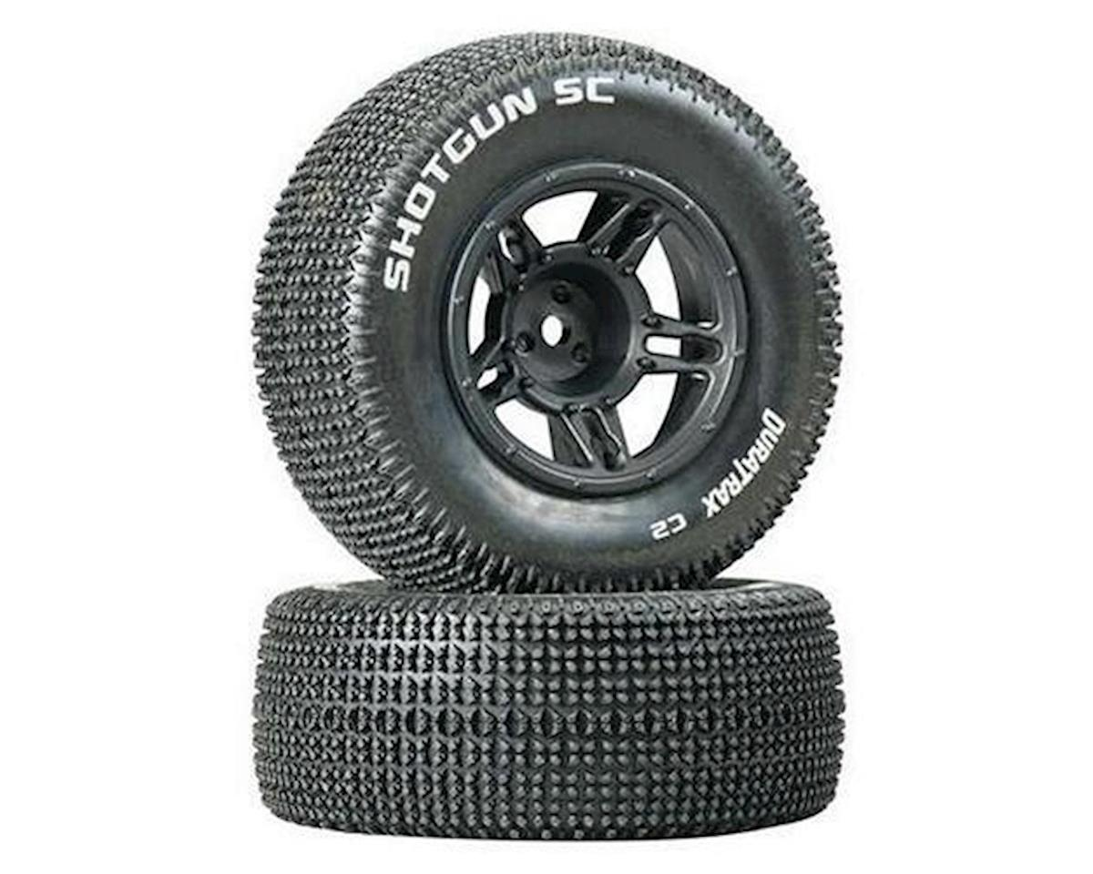 DuraTrax Shotgun SC Tire C2 Mntd Black Slash Front (2)