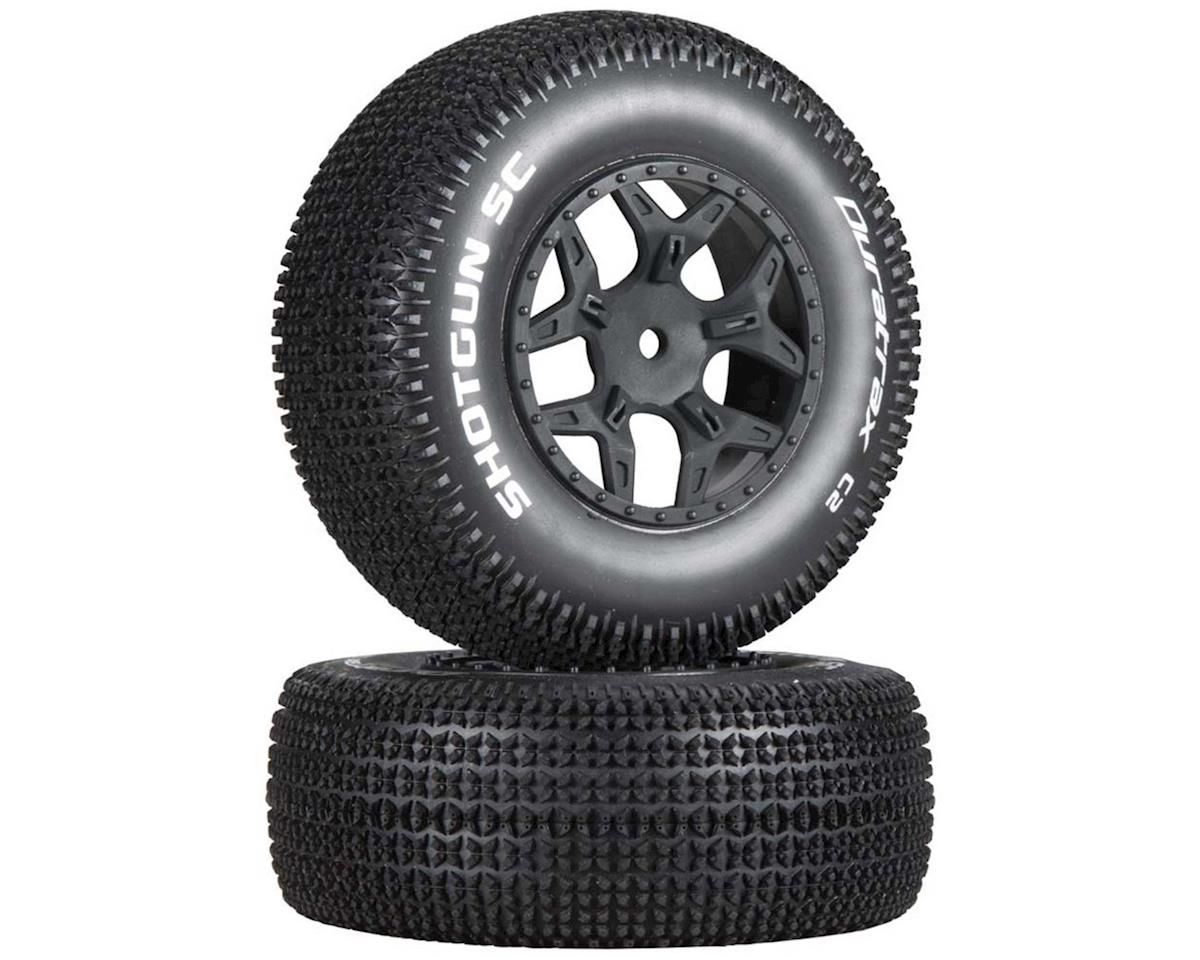 Shotgun SC 1/10 Mounted Truck Tires (Black) (2) (TEN-SCTE) by DuraTrax
