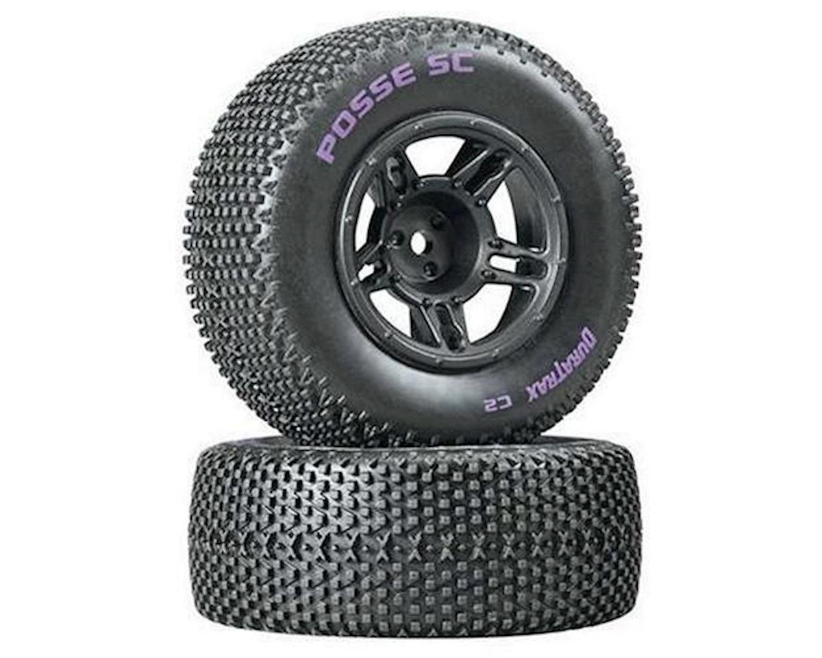 DuraTrax Posse SC Tire C2 Mntd Blk Slash Fr (2)