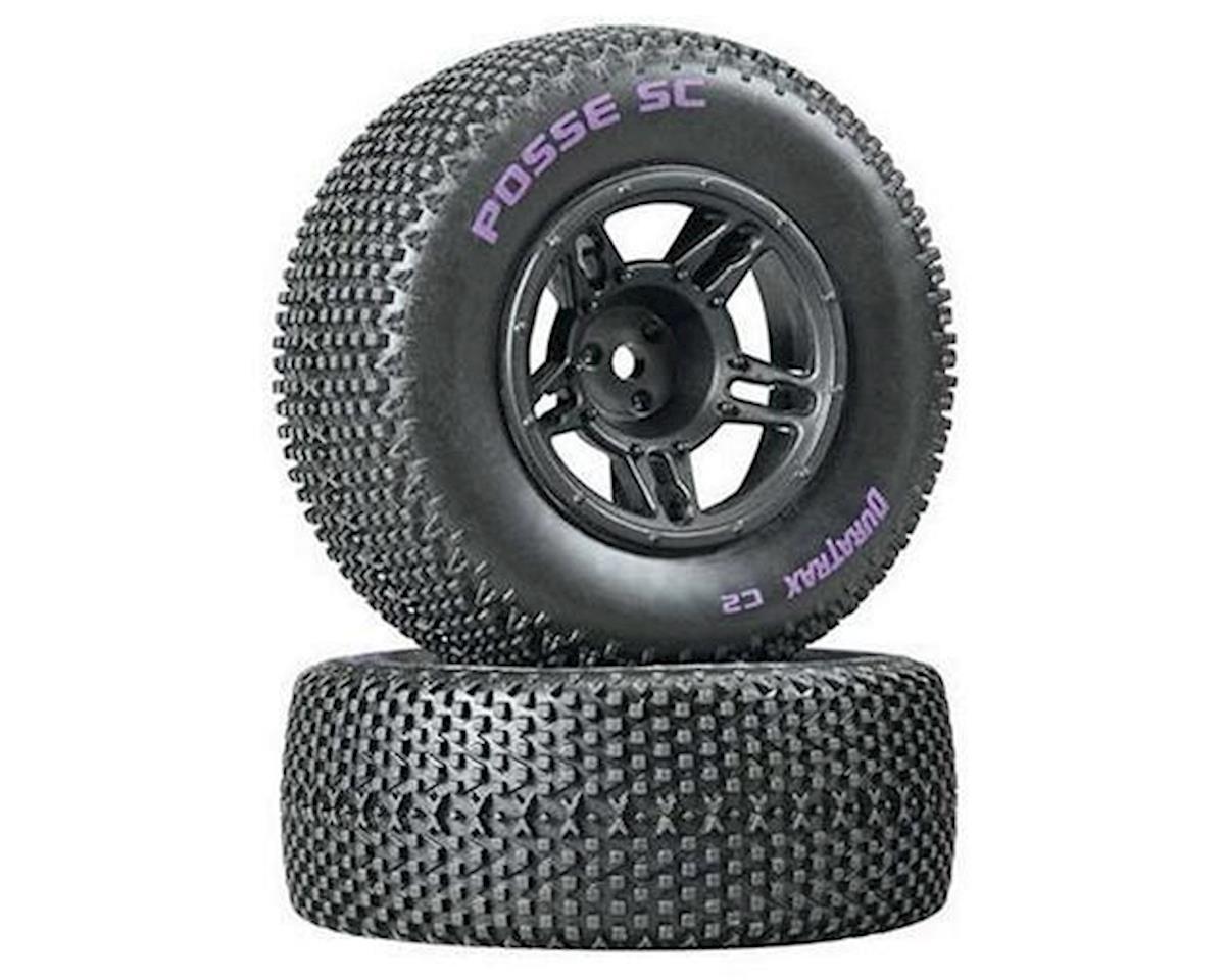 DuraTrax Posse SC Tire C2 Mntd Blk Slash Fr (2)