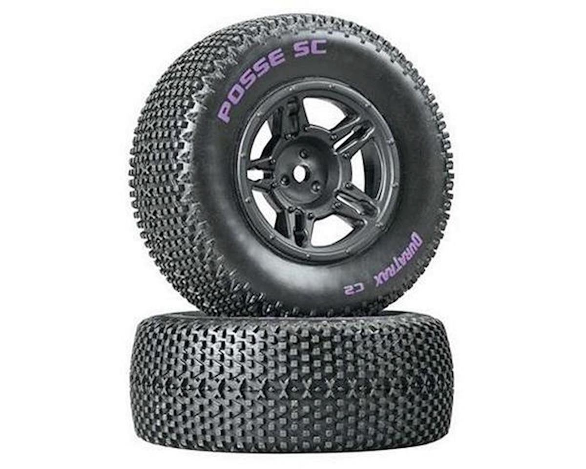 DuraTrax Posse Pre-Mounted Short Course Tire (Black) (2) (Soft - C2) (Arrma Fury)