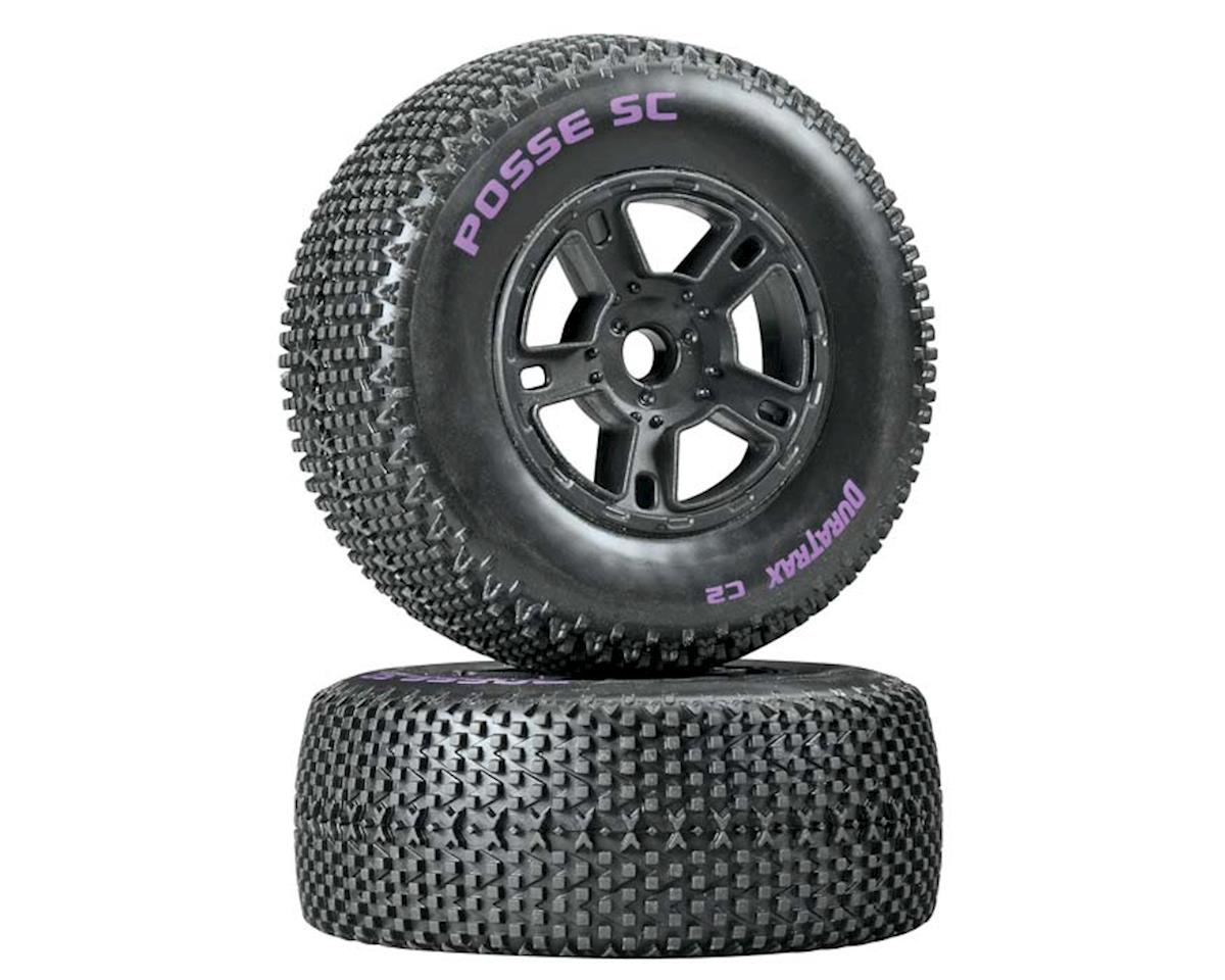 DuraTrax Posse SC Tire C2 Mounted Black SC10 Fr (2)
