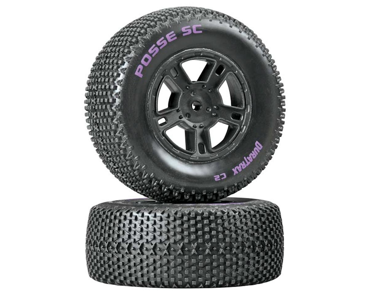 DuraTrax Posse SC Tire C2 Mounted Black SC10 Rear (2)
