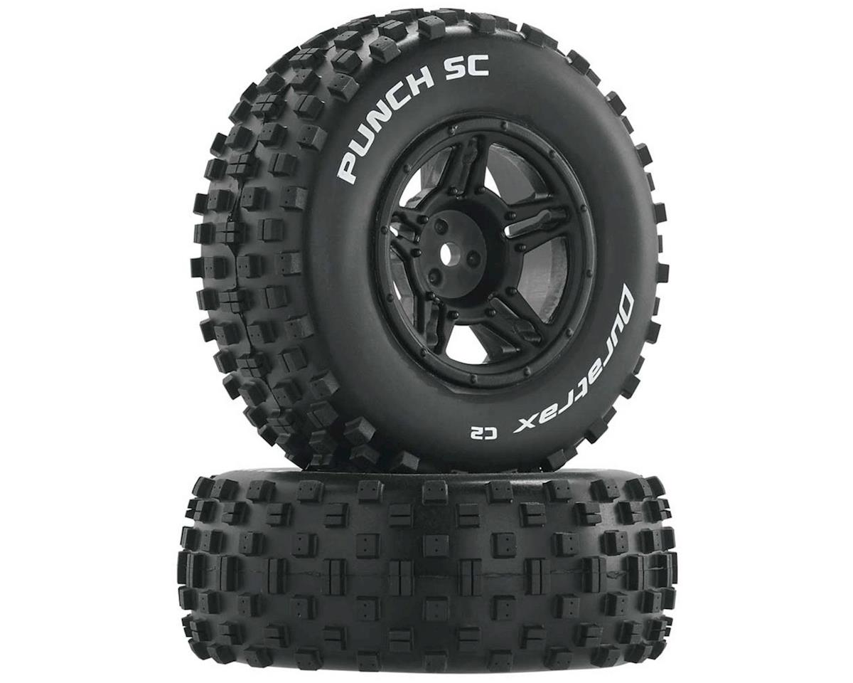 Punch SC 1/10 Mounted Slash Rear Truck Tires (Black) (2) (C2) by DuraTrax