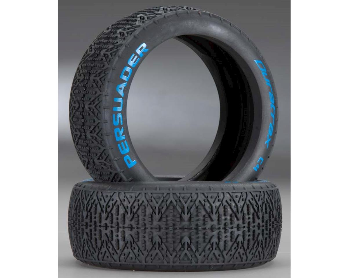 Persuader 1/8 Buggy Tires (2) (C4 Clay Compound) by DuraTrax
