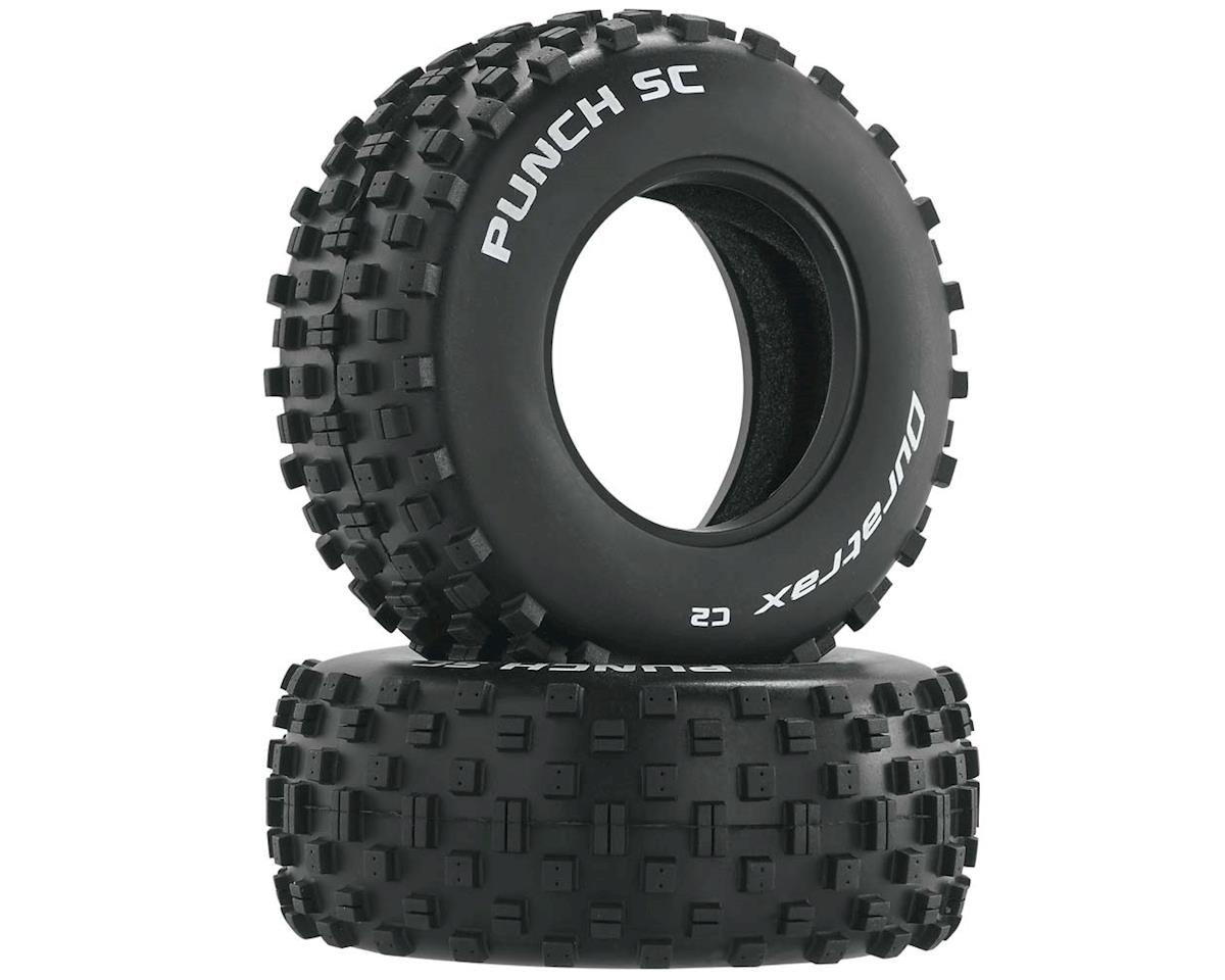 Punch SC Tire C2 (2) by DuraTrax