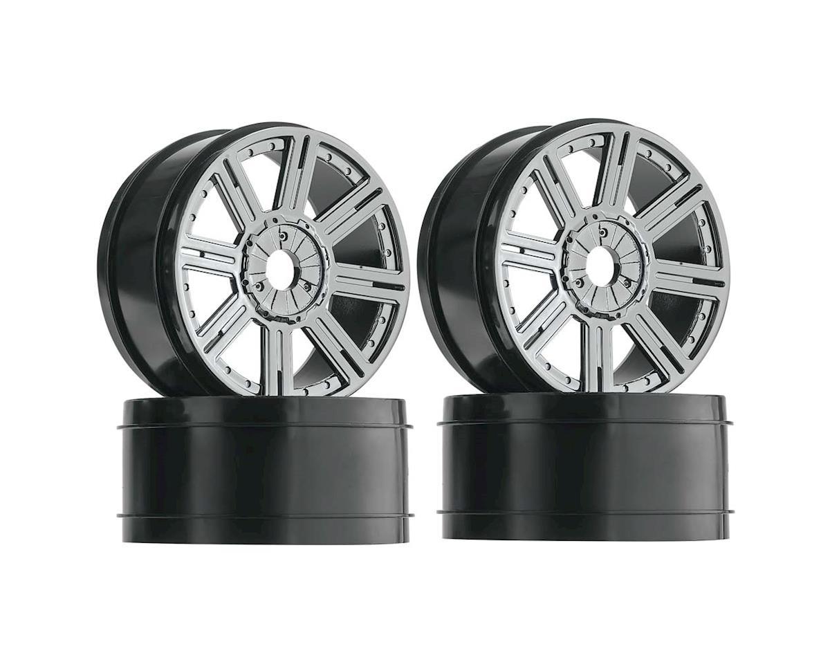 DuraTrax 1/8 Buggy Wheel Spoke Black Chrome (4)