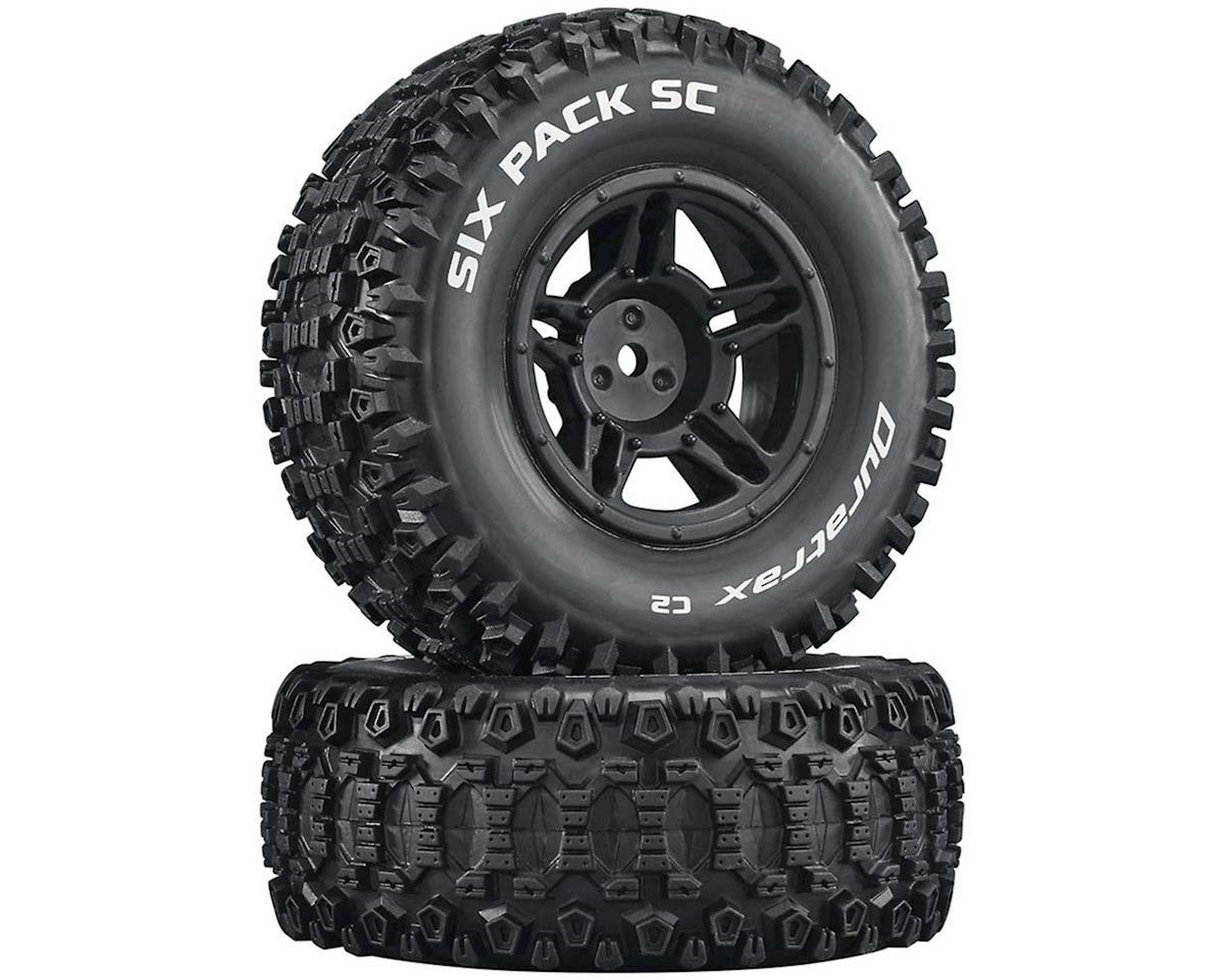 DuraTrax Six Pack Pre-Mounted Short Course Front/Rear Tires (Black) (2)