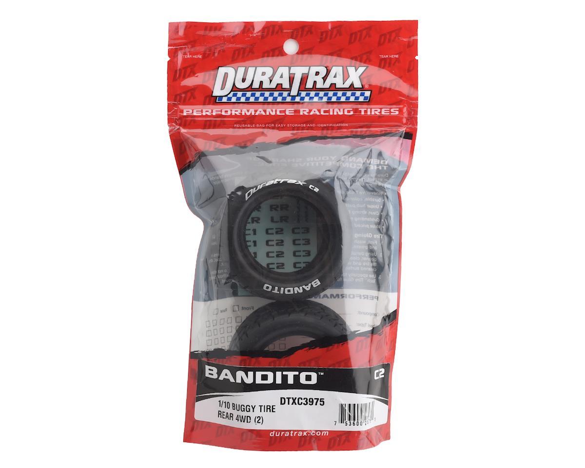 Bandito 1/10 Buggy Tire Rear 4WD C2 (2) by DuraTrax