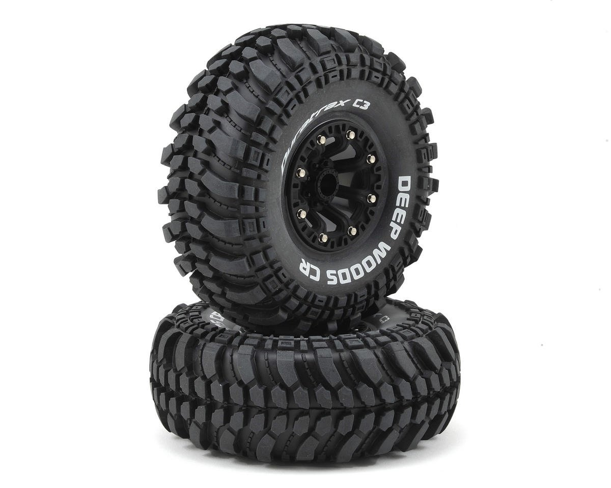 "Deep Woods CR 2.2"" Pre-Mounted Crawler Tires (2) (Black)"