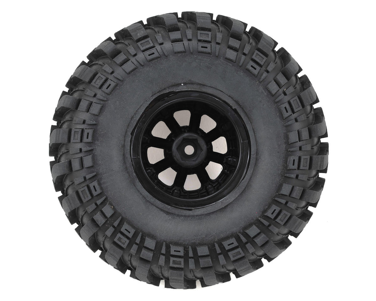 "Deep Woods CR 2.2"" Pre-Mounted Crawler Tires (2) (Black) (C3) by DuraTrax"