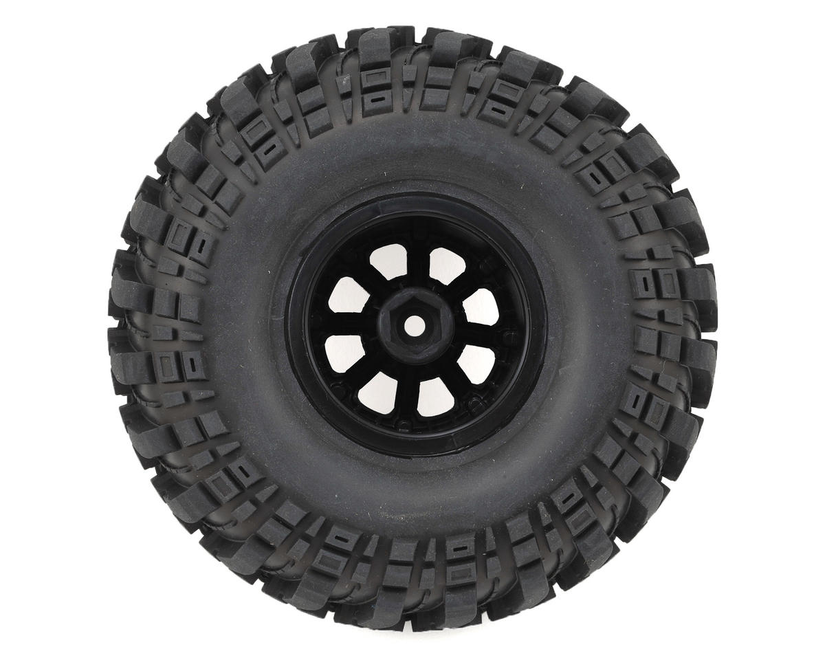 "Deep Woods CR 2.2"" Pre-Mounted Crawler Tires (2) (Black Chrome) (C3) by DuraTrax"