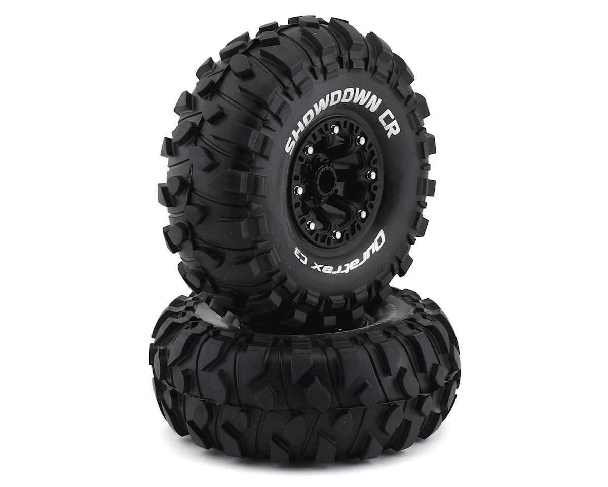 "DuraTrax Showdown CR Mounted 2.2"" Crawler Black Tires (2) (C3 - Super Soft)"