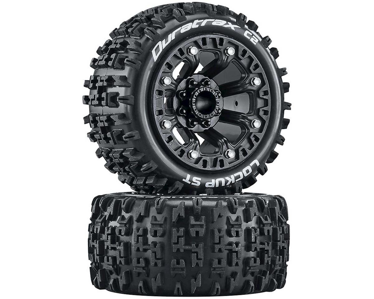 "DuraTrax Lockup Pre-Mounted Stadium Truck 2.2"" Tires (Black) (2)"