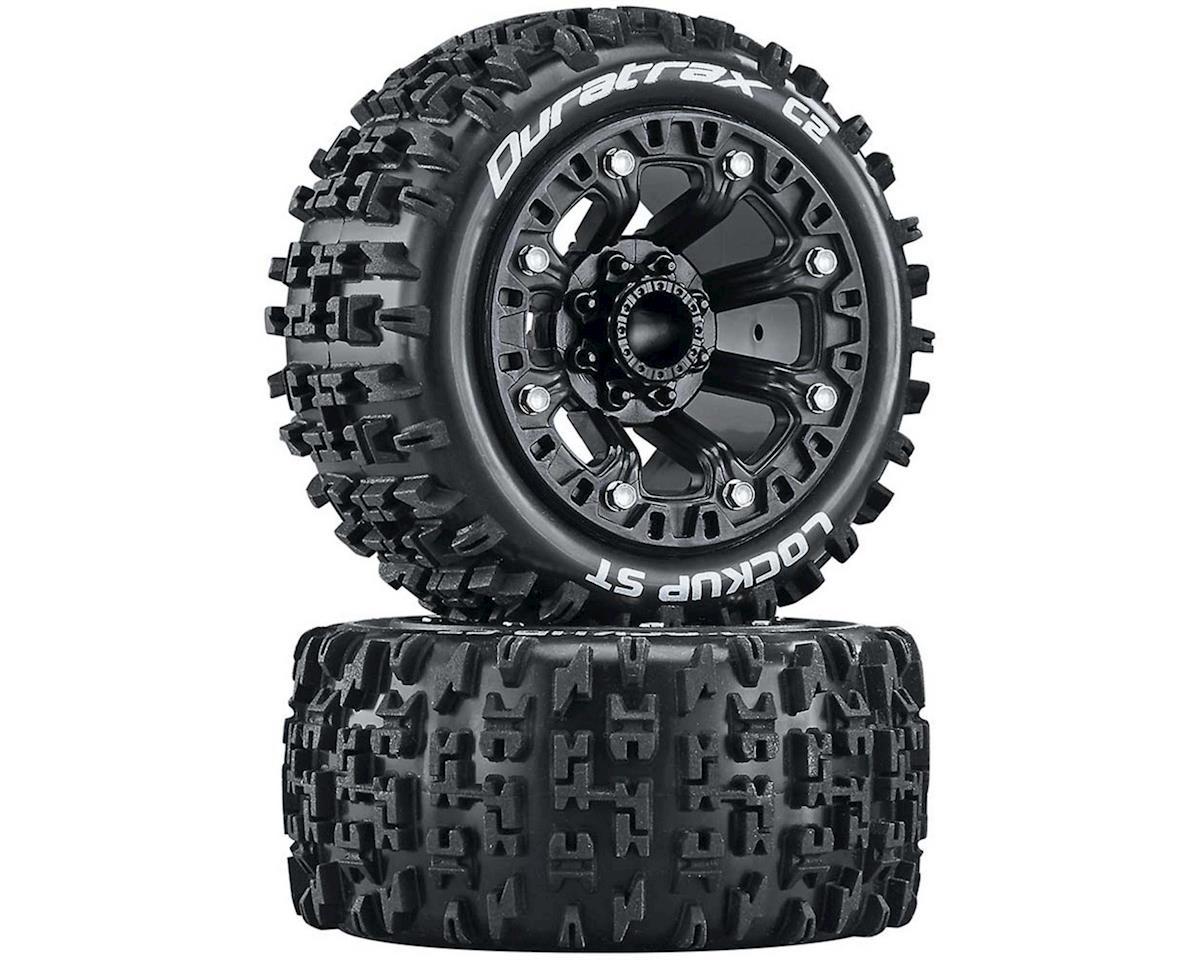 "DuraTrax Lockup Pre-Mounted Stadium Truck 2.2"" Tires (Black) (2)"