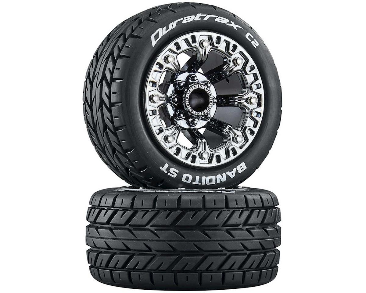 "DuraTrax Bandito Pre-Mounted 2.2"" Stadium Truck Tires (Black Chrome) (2)"