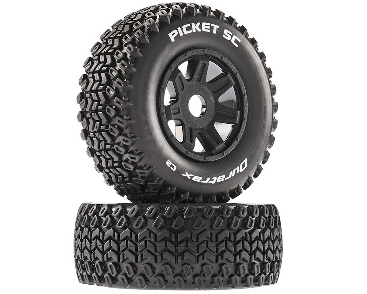 Picket SC Mounted Soft Tires, Black 17mm Hex (2)