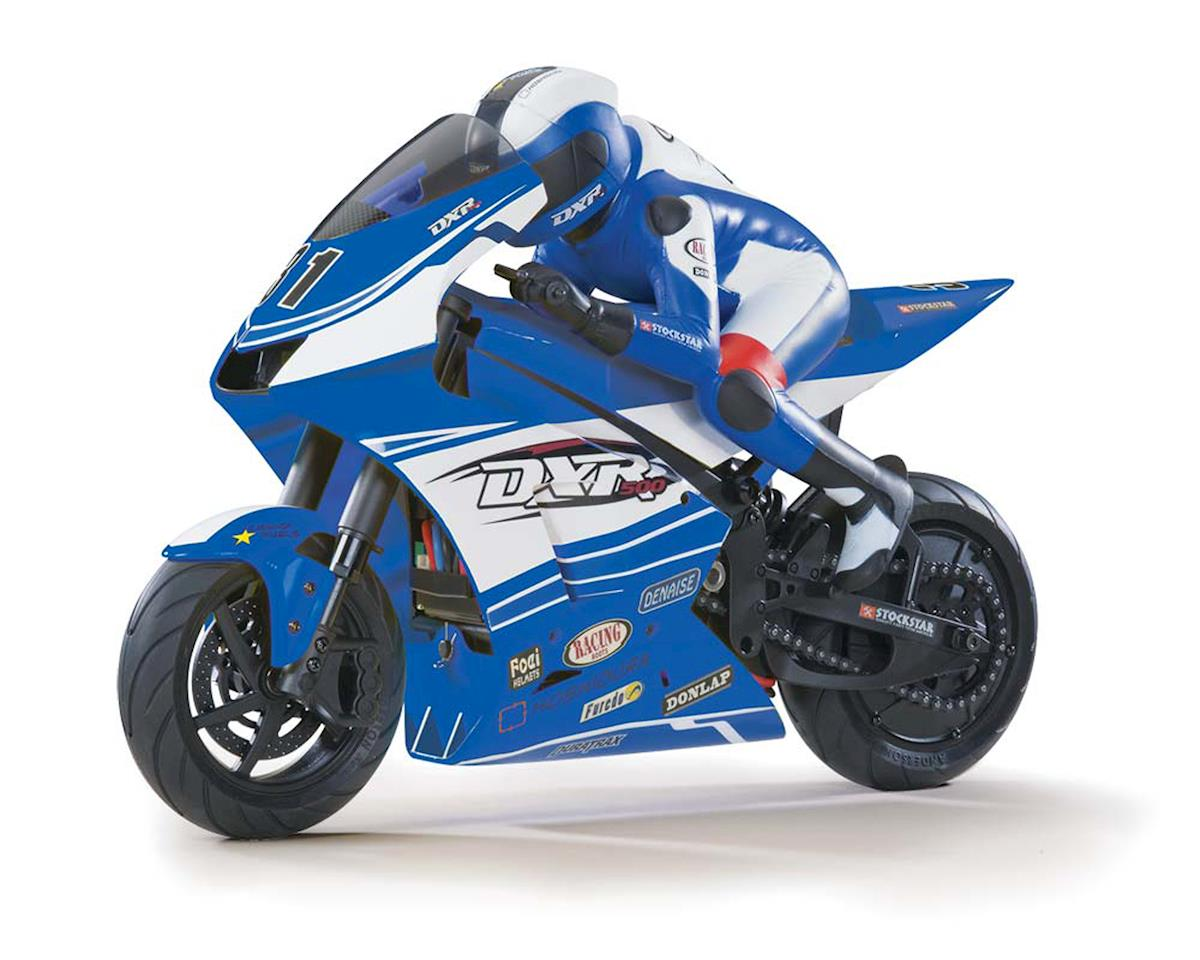 DuraTrax DXR500 1/5 Brushless Motorcycle RTR w/2.4GHz Tactic Radio System (Blue)