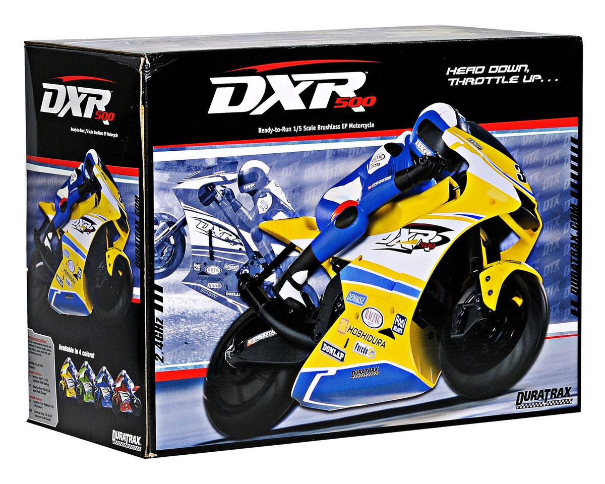 DuraTrax DXR500 1/5 Brushless Motorcycle RTR w/2.4GHz Tactic Radio System (Red)