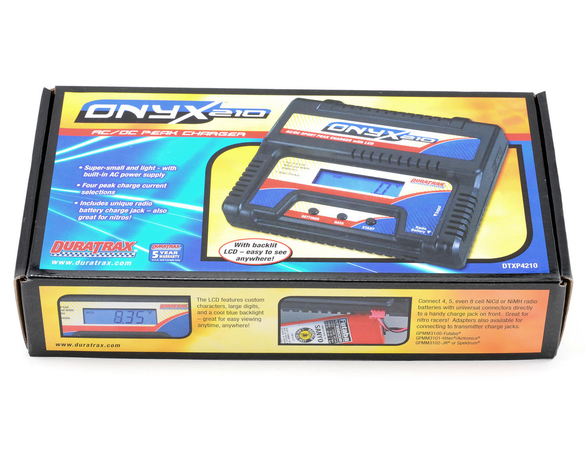 DuraTrax Onyx 210 AC/DC Peak Charger w/LCD Display