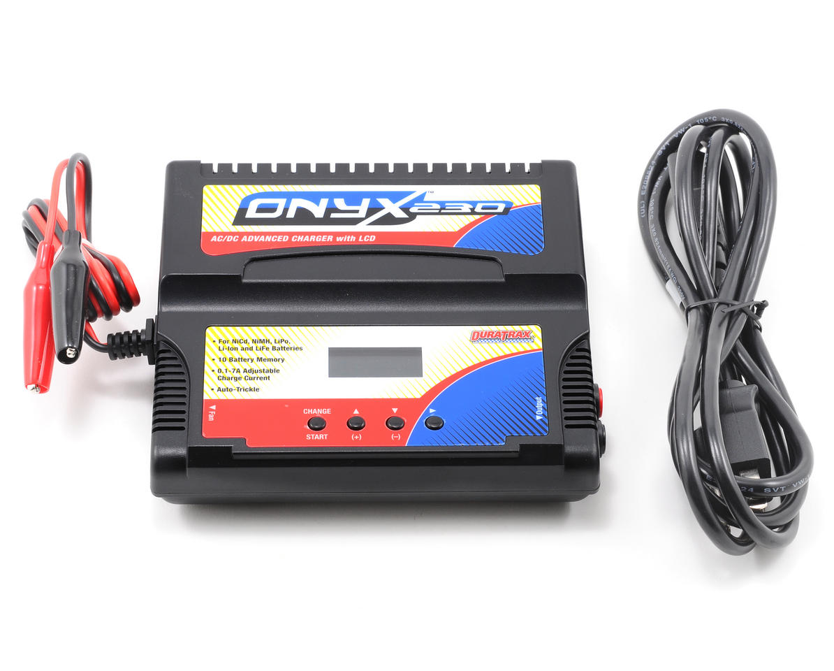 DuraTrax Onyx 230 AC/DC Advanced Charger w/LCD Display