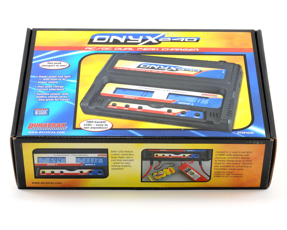 DuraTrax Onyx 240 AC/DC Dual Charger w/LCD Display